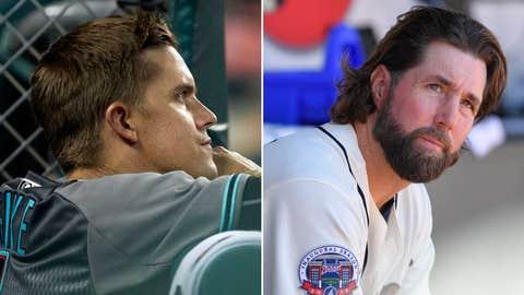 Today's starting pitchers: RHP Zack Greinke vs. RHP R.A. Dickey