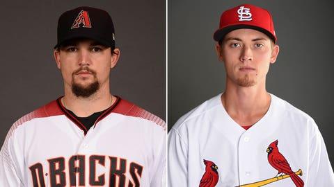 Today's starting pitchers: RHP Zack Godley vs. RHP Luke Weaver