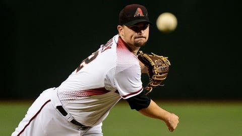 D-backs starting pitcher Zack Godley (3-4, 3.32 ERA)