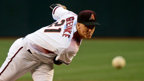 D-backs starting pitcher Zack Greinke (10-4, 3.05 ERA)