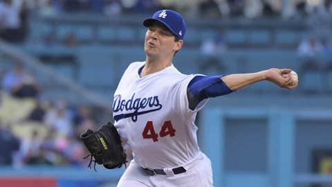 Dodgers starting pitcher Rich Hill (5-4, 4.00 ERA)