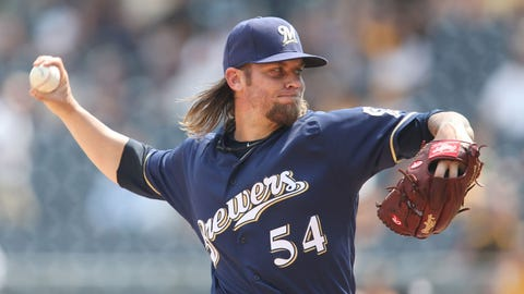 Michael Blazek, Brewers pitcher (↓ DOWN)