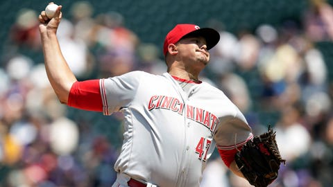 Reds starting pitcher Sal Romano (1-1, 4.50 ERA)