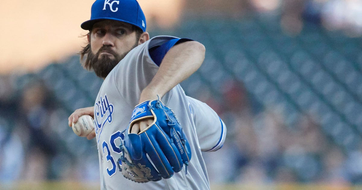 Royals face a first-place Cleveland team that's only .500