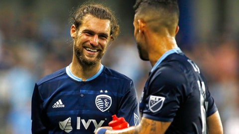 Graham Zusi and Dom Dwyer are headed to the MLS All Star Game in Chicago.	 Jay Biggerstaff-USA TODAY Sports