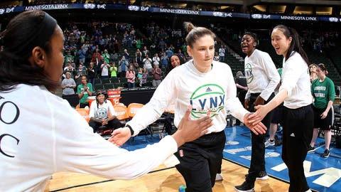 Lindsay Whalen, Lynx point guard (↑ UP)
