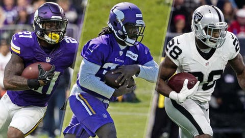 Running back: Jerick McKinnon vs. Dalvin Cook vs. Latavius Murray