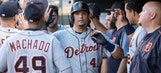 Martinez homers twice as Tigers top Twins 6-3