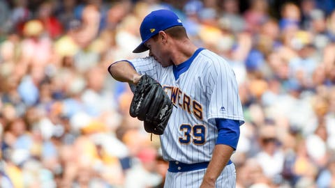 Tyler Webb, Brewers reliever (↓ DOWN)