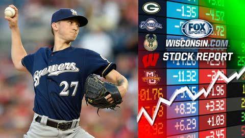 Zach Davies, Brewers starting pitcher (↑ UP)