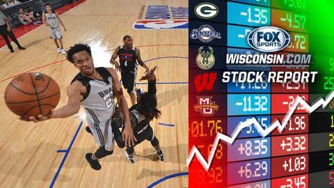 Rashad Vaughn, Bucks guard (↑ UP)