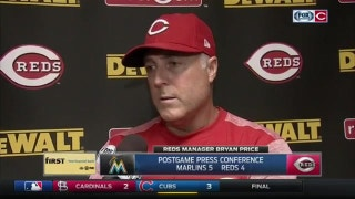 Bryan Price: 'We needed the big hit, we weren't able to get it.'