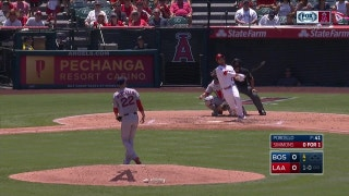 WATCH: Powerful bats of Simmons, Trout, and Valbuena lift Angels over Red Sox 3-2