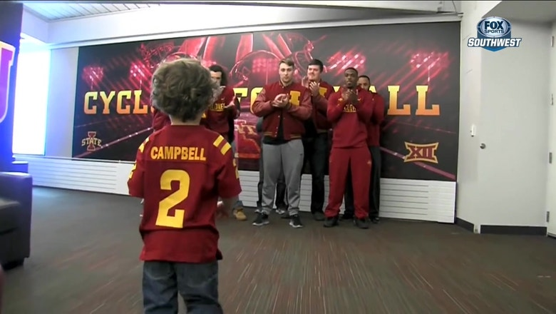 Coach Campbell's son Rudy stealing the show in Ames