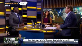 Tony Romo says he's 99.9% sure he's done in the NFL, and that makes Skip a little nervous | UNDISPUTED