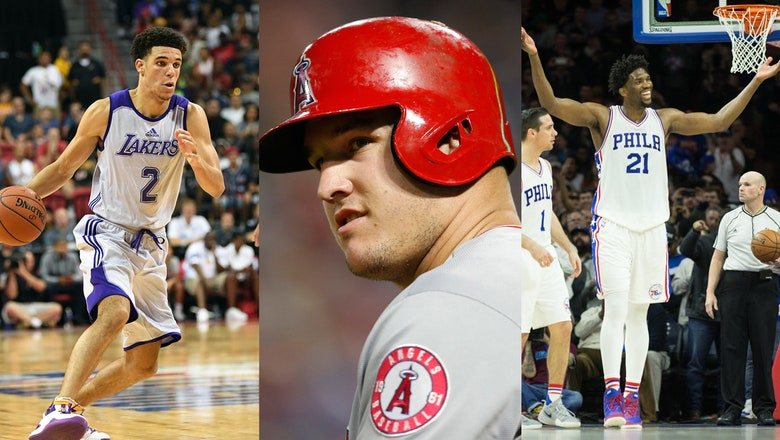 Trust the Process? Trout has fun Twitter back-and-forth with teammates on the Lonzo Ball, 76ers