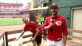 Zack Cozart gets his All-Star present as Joey Votto interviews the new donkey owner