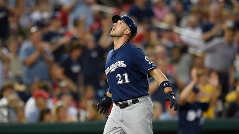 Travis Shaw, Brewers third baseman (↓ DOWN)