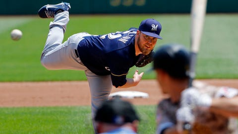 Jimmy Nelson, Brewers starting pitcher (↑ UP)