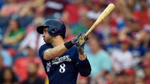 Stephenson, Gennett get Reds by Brewers