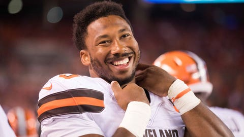 Myles Garrett on first NFL sack