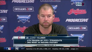 Kluber thinks he hung 'loopy' cutter to Moreland & speaks on Indians injury troubles