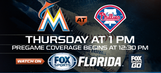 Preview: Marlins try to secure series win in road trip finale against Philles