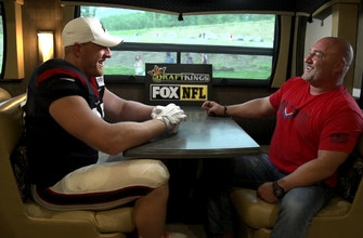 Images of J.J. Watt joins the Jay Glazer Bus