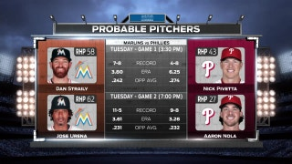 Marlins face Phillies in doubleheader on Tuesday