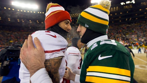 VIDEO: Shannon explains 'it's a huge, huge deal' Aaron Rodgers said Colin Kaepernick should be playing