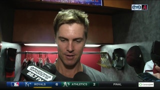 "Greinke: ""I made a lot of good pitches today."""