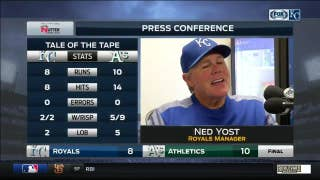 Yost on Royals' loss to Athletics: 'We just couldn't contain them'