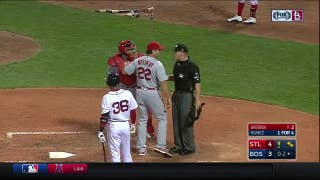WATCH: Matheny gets tossed from Cardinals-Red Sox game in ninth inning