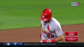 WATCH: Tommy Pham hits a ridiculously long homer to left field