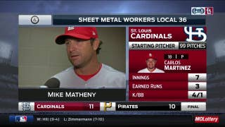 Mike Matheny on Cardinals' late-inning struggles in win over Pirates