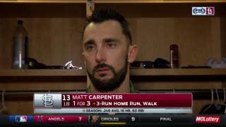 Matt Carpenter: 'We feel as good as we've felt all year about contending'