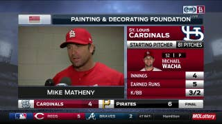 Matheny says Wacha 'couldn't find a real good feel for his stuff' after rain delay