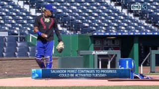 Salvador Perez nearing return from the DL