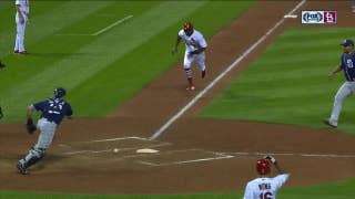 WATCH: Fowler scores on chaotic wild pitch