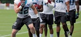 McCaffrey's shiftiness turning heads at Panthers camp