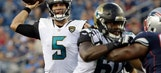 Jaguars coach Marrone says QB Bortles dealing with tired arm