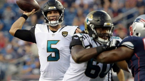 Blake Bortles on arm: 'It feels good, I'll be all right'