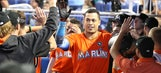 Stanton ties franchise mark with 42nd homer in Marlins' win