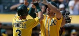 Chapman's 3-run HR in 5-run 4th rallies A's over Orioles 9-3