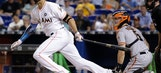 Stanton hits team-record 43rd homer, Marlins beat Giants 8-3