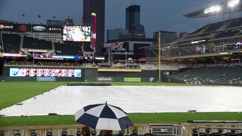 Indians-Twins washed out; they play two Thursday
