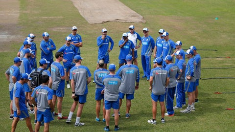 Australia's only warm-up game called off due to waterlogging
