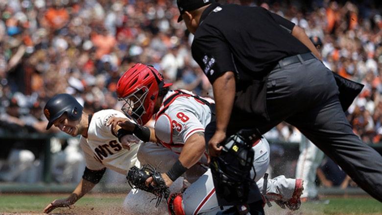 Hoskins homers again, Phillies beat Giants 5-2