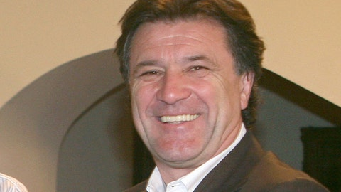 FILE - In this file photo dated Sunday, May 25, 2008, President of Dynamo Zagreb soccer team Zdravko Mamic at Dynamo stadium in Kiev, Ukraine. Controversial former Dinamo Zagreb director Zdravko Mamic has been shot in his leg and taken to hospital in Bosnia, according to police, Monday Aug. 21, 2017. (AP Photo/Andriy Lukatsky, FILE)