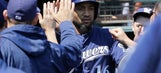 Parker's 2-run double in 7th sends Giants past Brewers
